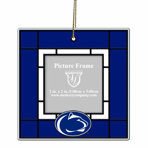 NCAA Penn State Nittany Lions Art Glass Picture Frame Ornament