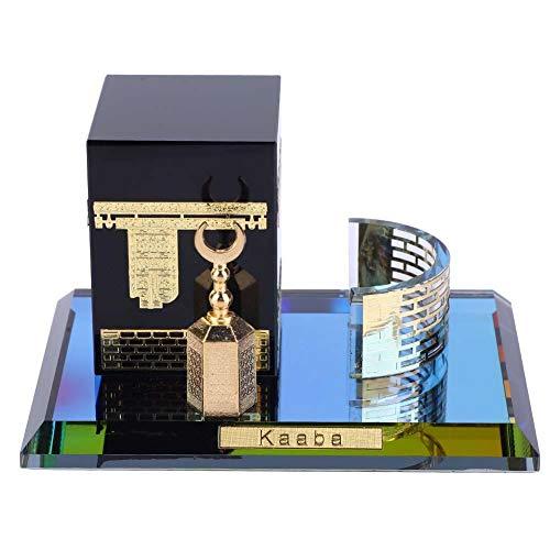 Musulmán Kaaba Modelo Cristal Dorado Conjunto de 3 Piezas K