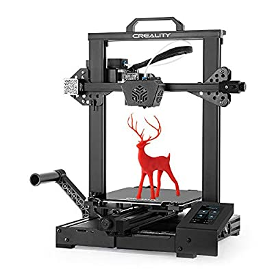 Official Creality CR-6 SE 3D Printer Leveling-Free with Silent Motherboard, Meanwell Power Supply, Touch Screen,Tempered Glass Plate and Dual Z-axis Print Size 235 x 235 x 250 mm