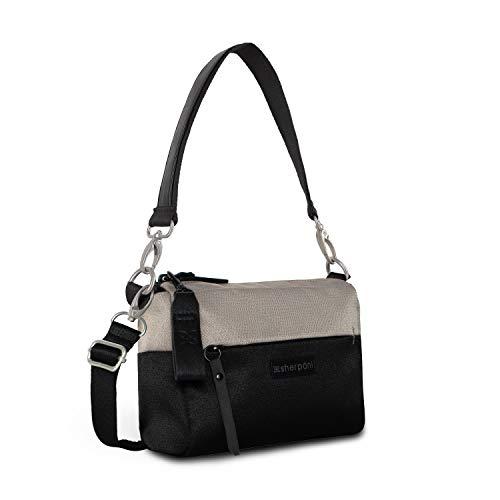 Sherpani Skye, Mini Crossbody Purse, Fashion Purse and Handbag, Small Shoulder Bag, Recycled Nylon Crossbody Bags for Women, RFID Protection (Champagne)