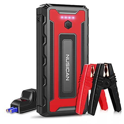 NUSICAN Car Jump Starter, 2600A 22000mAh 12V Portable Battery Starter, Auto Battery Booster Pack with Dual USB / Quick Charge 3.0 /Type-C (up to 8.0L Gas/8.0L Diesel)