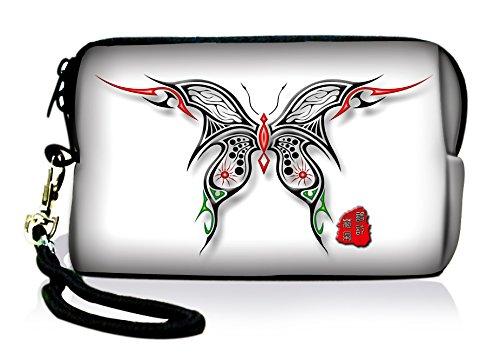 Luxburg® Design Universal cameratas hoes sleeve case voor compacte digitale camera, motief: vlinder schaargesneden
