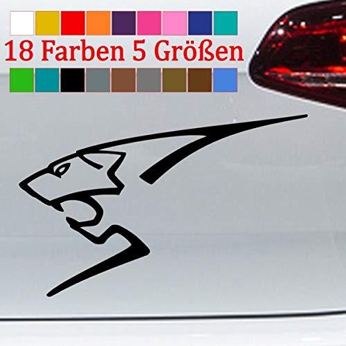 Generisch Löwe Aufkleber Peugeot Optik Silhouette 206 207 208 307 308 407 RCZ JDM 5 Größen