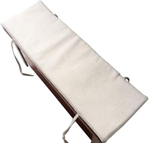 POETRY Cojín de Banco Largo para Interior para Exteriores, cojín para cojín, Cojines para Asientos de Ventana, Cojines para paletas de jardín, Cojines para Muebles de Patio (Blanco 100x35cm)