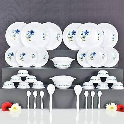 Karm Creation Plastic Dinner Set - 36 Pieces, Multicolour