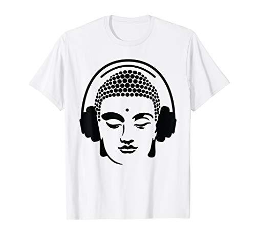 Chilling Buddha with Headphones T-Shirt