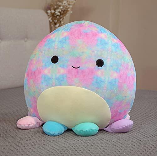 Giocattoli di peluche colorati polpi kawaii, bambola abbraccio paffuto, cuscino morbido cuscino, per bambini regali di compleanno di Natale, 25 cm