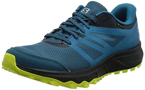 Salomon Trailster 2 Gore-Tex (impermeable) Hombre Zapatos de trail running, Azul (Lyons Blue/Navy Blazer/Evening Primrose), 40 EU