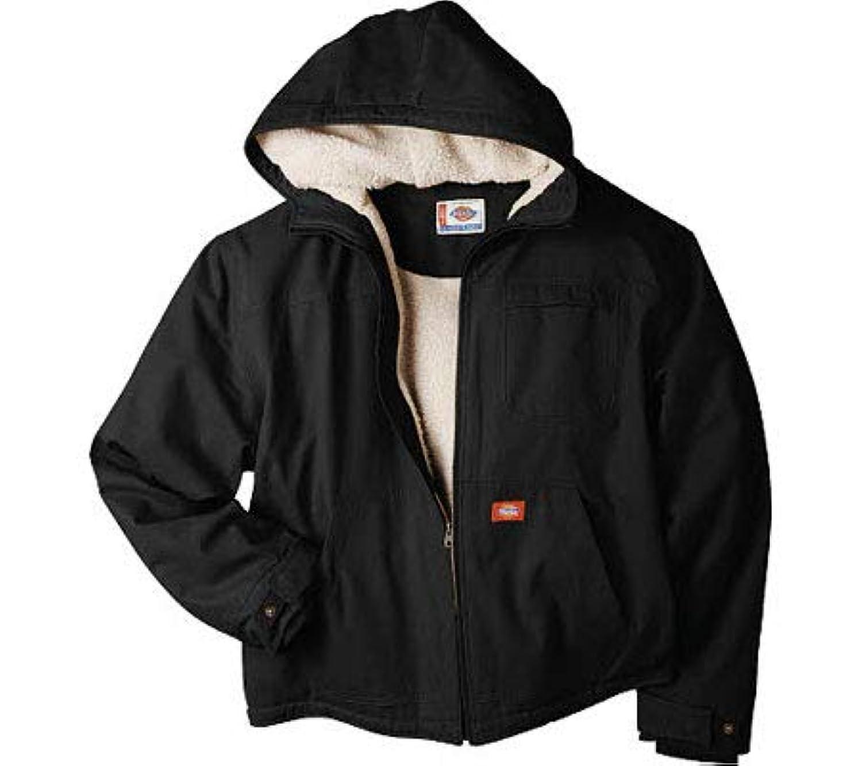 ディッキーズ ジャケット アウター メンズ Sanded Duck Sherpa Lined Hooded Jacket Black