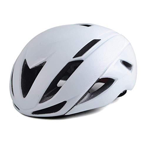 YXDEW Casco de Ciclista Hombres Cubierta Ultraligero MTB Triathlon Casco de la Bici Integralmente-Mold Casco de Ciclista Ciclismo de Forma Segura Cap Motocicleta (Color : White)