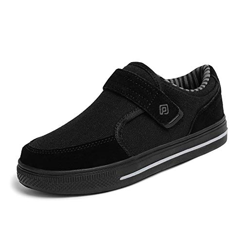 DREAM PAIRS Little Kid Boys' 160479-K All Black School Loafers Sneakers Shoes - 2 M US Little Kid
