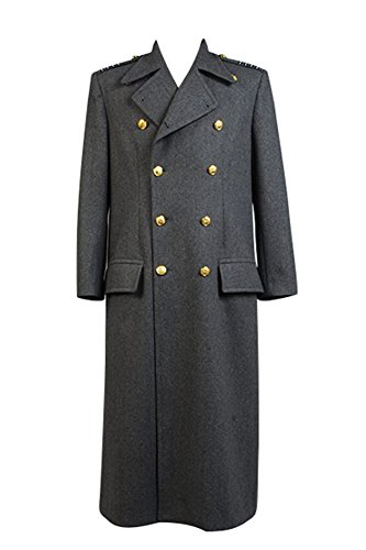 Torchwood Doktor Kapitän Jack Harkneß Wollen Trenchcoat Grau Version XL