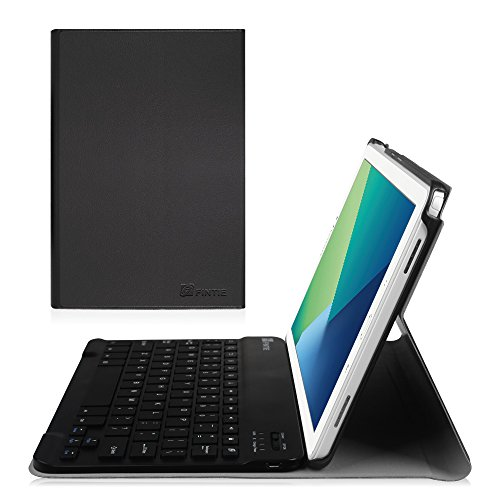 Fintie Samsung Galaxy Tab A 10.1 with S Pen Keyboard Case - Slim Shell Light Weight Stand Cover with Detachable Wireless Bluetooth Keyboard for Galaxy Tab A with S Pen 10.1 inch Tablet SM-P580, Black