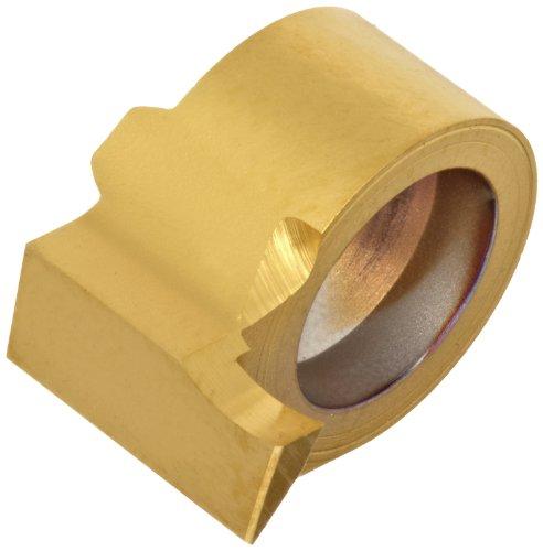 Sandvik Coromant CoroCut MB Carbide Face Grooving Insert, MB-FG Geometry, GC1025 Grade, Multi-Layer Coating, 1 Cutting Edge, MB-09FB100-00-14L, Left Hand Orientation, B Curve, 0.039