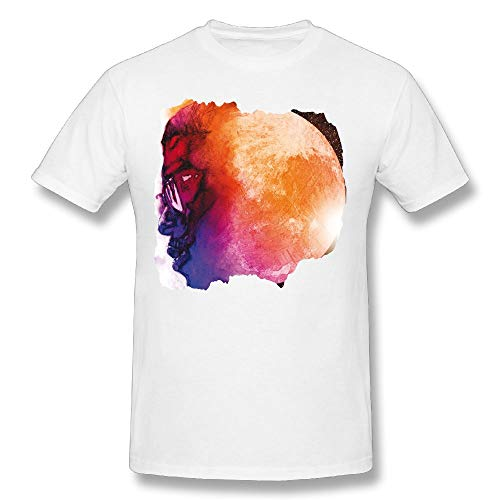 Kid Cudi Man On The Moon The End of Day Youth Man Short Sleeves Cotton T Shirt Funny Tee Shirt White M