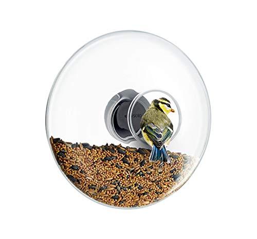 Eva Solo 571024 Raam Vogelvoeders, Groot, Glas, Rubber, Roestvrij staal, Glas, ø20 cm