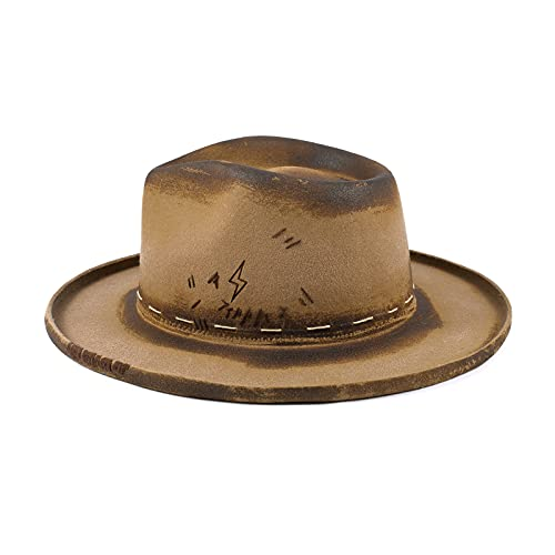 RUEDIGER Fedora Firm Wool Felt Panama Hat for Men