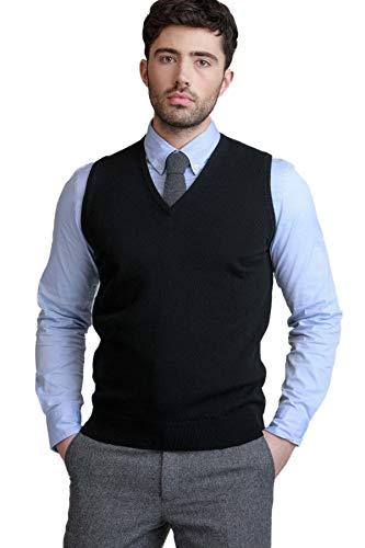 BASE 41 Men's Wool V Neck Sweater