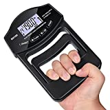 Grip Strength Tester, Auligi 396Lbs/180kg Digital Hand Dynamometer Grip Strength Meter USB Rechargeable Bright LCD Screen Hand Grip Dynamometer for Sport, Home, School, Clinic Use
