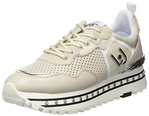 Liu Jo Shoes Damen Maxi Alexa-Running Calf Sneaker, Beige (Taupe S1802), 41 EU