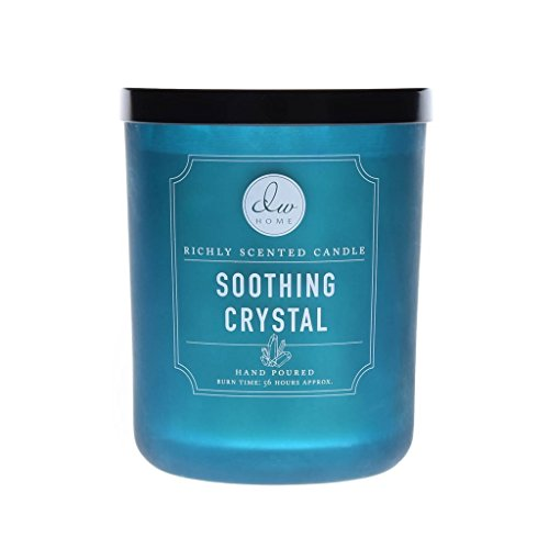 DW Home Decoware Richly Scented Candle 15 oz. in Glass Jar Large Double Wick --- Soothing Crystal
