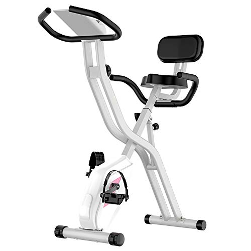 TQJ Maquina de Pedales Sentada El Ejercicio de la Aptitud Bici Salud Cinta de Correr en Bicicleta Máquina de Pedales (Color : White)