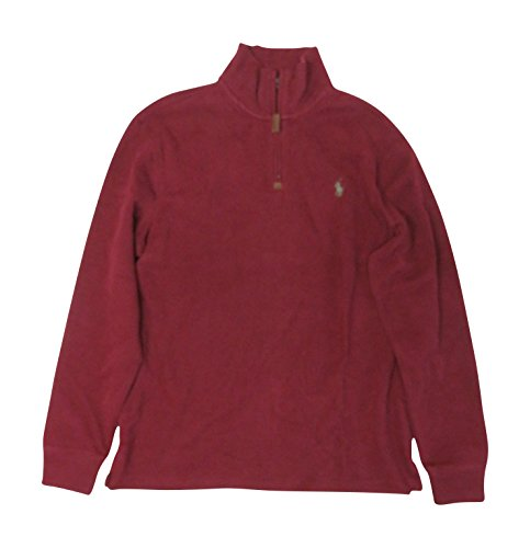 Ralph Lauren Polo Mens Quarter Zip Sweater Burgundy, Large