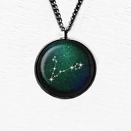 Zodiac Symbol Astrology Pisces Star Constellation Tierkreis Astrologie Fische Anhänger und Halskette
