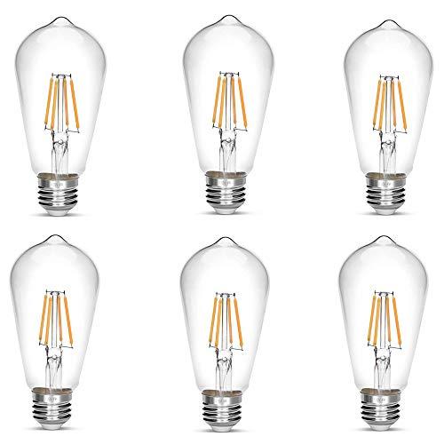 LED Edison Bulb,Antique 40W Vintage Edison Bulb,E26 Light Bulb Non Dimmable Led Bulb 450 Lumens 2700K Warm White,Pack of 6