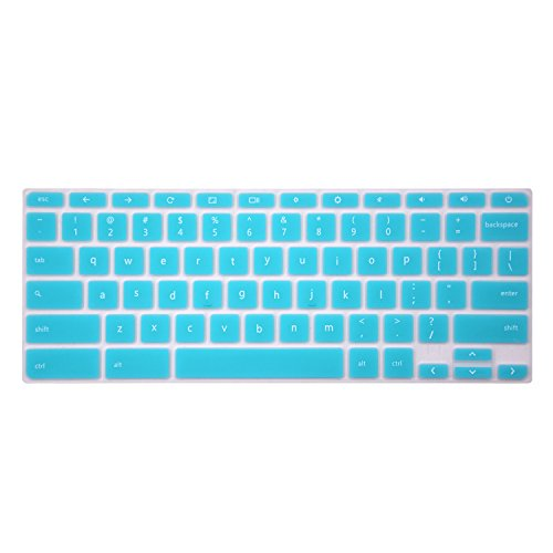 """Keyboard Cover Compatible with 2018 2017 Acer Chromebook 15 CB3-531 CB3-532 CB5-571 C910 /14"""" Acer Chromebook 14 /Acer Premium R11 11.6"""" Convertible 2-in-1 Chromebook -Hot Blue"""