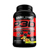 Hard Iron Labs P3D Performance Enhancing Drink, 3 in 1 Pre Intra Post Workout Supplement with Carbs EAA BCAA Citrulline Creatine Beta Alanine Betaine Taurine, Tropic Blast Flavor, 60/20 Servings