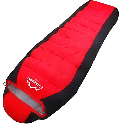 Al aire libre Bolsas de dormir Pluma / pato abajo Invierno Más grueso Camping -20 calor Camping Bolsas de dormir 2300 g , red