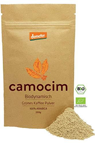 Grüne Kaffee Bio Gemahlen | Single-State Camocim Farm, Brasilien | 100% Arabica Rohkaffee Gemahlen | Demeter Qualität Siegel (200 gr)