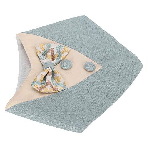 Asixxsix Baberos de Saliva para Mascotas, Bufanda de Cuello de Cachorro, paño Azul Ajustable Lavable Conveniente Lindo para Gato Perro Mascota(Blue, L)