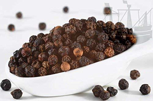 Pfeffer schwarz, ganz, 1A Sarawak ( Piper nigrum ) , Pfeffermühlen geeignet, 150g - Bremer Gewürzhandel
