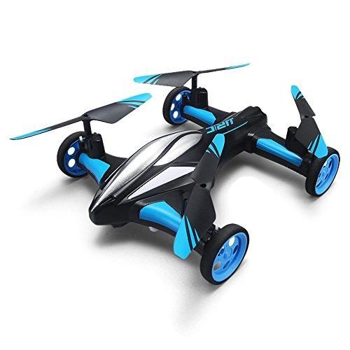 Mallalah Drone Control Remoto para Coche Aire-Tierra RC Quadcopter Volver a un botón Moda sin Cabeza Vehículo Volador Niños Juguete (Azul)