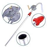 Rotary Barrel Pump, 70RPM Aluminum Alloy Hand Crank Oil Barrel Drum Pump Pumping Petrol Diesel Fuel for Petroleum Products