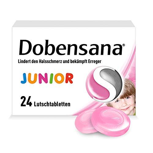 Dobensana Junior Lutschtabletten 1,2mg/0,6mg – Halstabletten für Kinder zur Schmerzlinderung bei leichten Halsschmerzen – 1 x 24 Tabletten