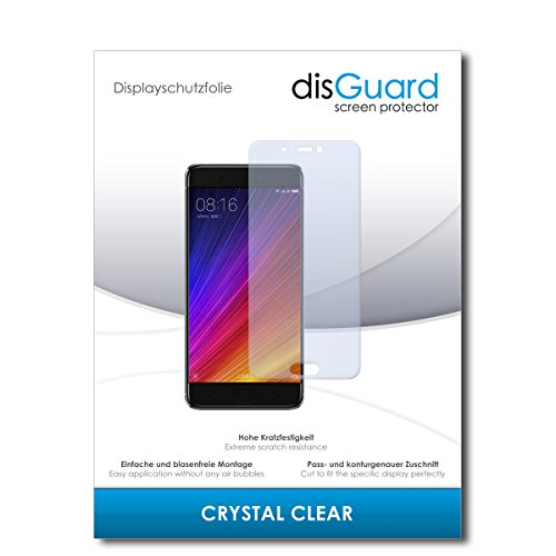 disGuard® Bildschirmschutzfolie [Crystal Clear] kompatibel mit Xiaomi Mi 5s [2 Stück] Kristallklar, Transparent, Unsichtbar, Extrem Kratzfest, Anti-Fingerabdruck - Panzerglas Folie, Schutzfolie