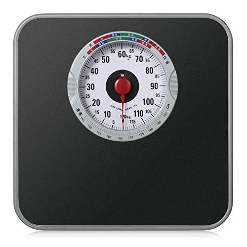 KJH Huishoudelijke apparaten menselijk Scales Retro Dial Square hoge precisie meting antislip digitale personenweegschaal