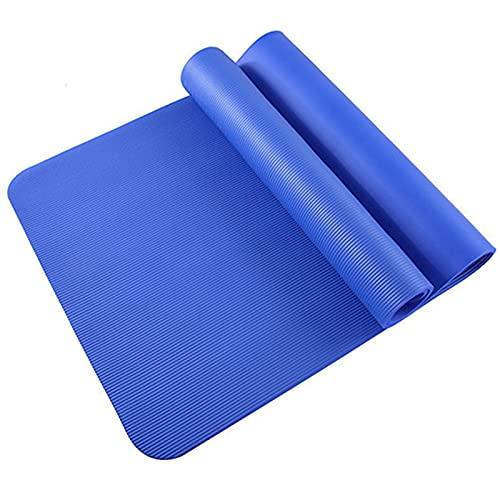 GWGW Yoga Mat Fitness Widen Mat de Danza Multifuncional Deportes Fitness Slip Pad(183 * 61 * 0.8cm,Azul)