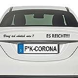 Die Meinungsmaske Adhesivo para coche con texto en alemán 'Darf ich ehrlich Sein? ES REICHT!' (74 x 5 cm), color negro