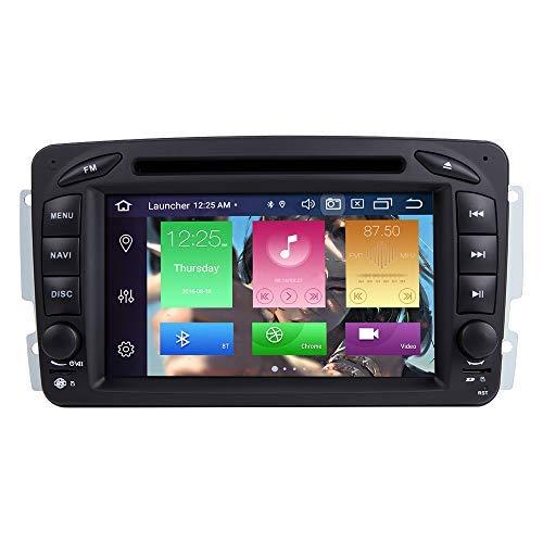 per Mercedes Benz A-W168 C-W203 Classe G W463 Viano Vito W639 Android 10.0 Octa Core 4GB RAM 64GB Rom 7'Autoradio Stereo Sistema GPS Car Multimedia Player Support Car Auto Play/TPMS / 4G WiFi