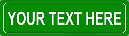 BuildASign Personalized Custom Street Sign 5'x18' Reflective Aluminum - Green