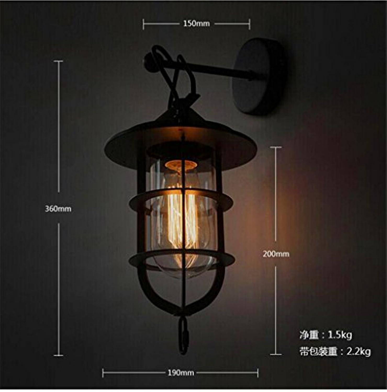 StiefelU LED Wandleuchte nach oben und unten Wandleuchten Einstellbare Bügeleisen industrial Style loft Wand Lampen Retro Terrasse cafe Galerie balkon Wandleuchten, H