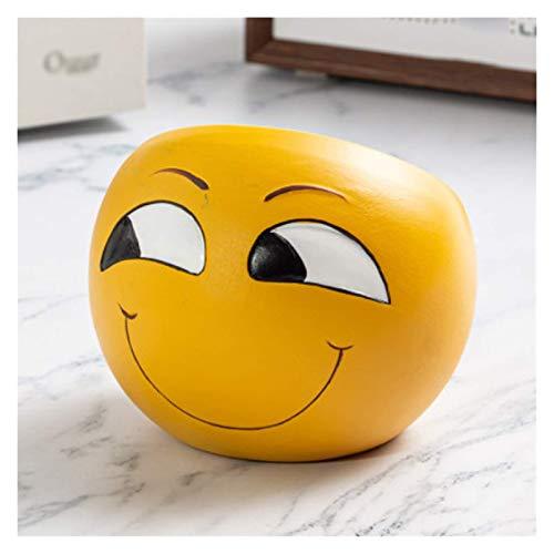 Cenicero creativo Cenicero de cerámica Emoji Tablero de ceniza de ceniza personalidad y cenicero lindo para el hogar Regalo de la decoración interior de la oficina del hogar Regalo de cenicero (color: