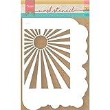 Marianne Design Plantilla de Máscara, Nubes, para Scrapbooking, Crear Tarjetas y Otras Manualidades con Papel, plastico, Blanco, Small