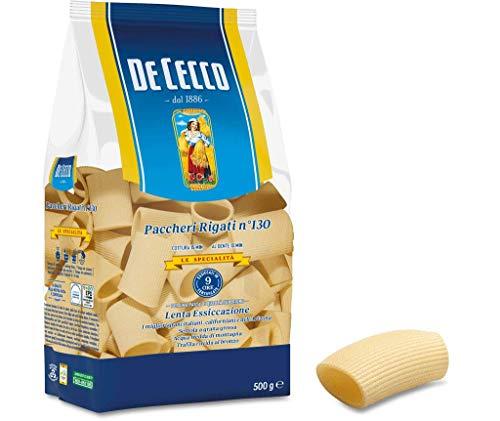 10x De Cecco 100% Italienisch Pasta Paccheri Rigati n° 130 Nudeln 500g