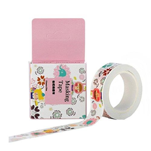Bismarckbeer décoratifs papier Washi Ruban adhésif de masquage DIY adhésif autocollant Scrapbooking Taille unique 3#