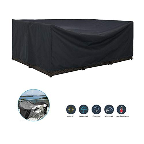 NINGWXQ 210D waterdichte Oxford Doek winddicht Dust-proof covers for tuinmeubelen Outdoor tafel en stoel Cover, Zwart, Meerdere Maten (Color : Black, Size : 0.6x0.6x1m)